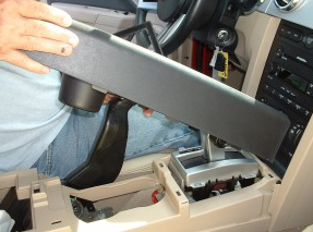 Remove the center console trim