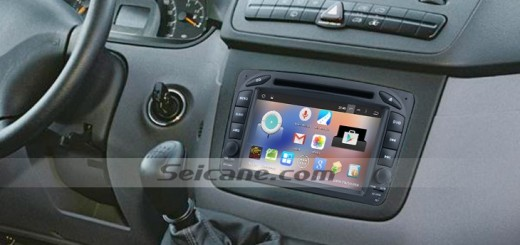 1998-2002 Mercedes Benz A Class W168 head unit after installation
