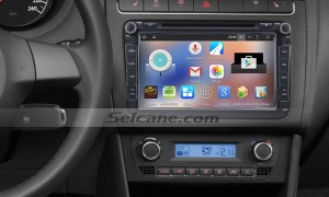 2004-2011 VW Volkswagen Sagita car radio after installation