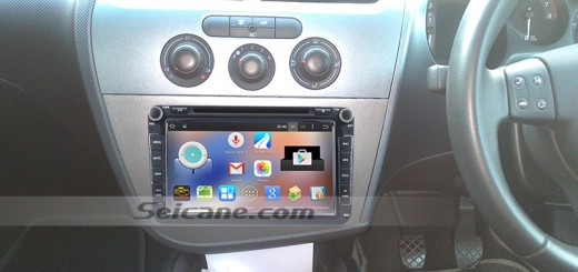 2004-2013 Seat Altea head unit after instllation