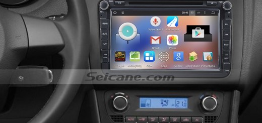 2005-2011 Seat Leon head unit after installation