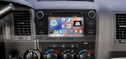 2008-2014 TOYOTA Sequoia head unit after installation