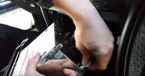 Disconnect the connectors at the back of the original car radio