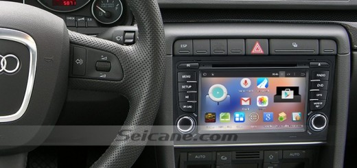 SEAT EXEO head unit after installation