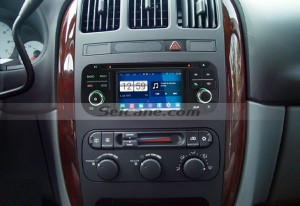 2002 2003 2004 CHRYSLER 300M car stereo after installation
