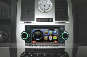 2006 2007 Dodge Charger head unit after installation