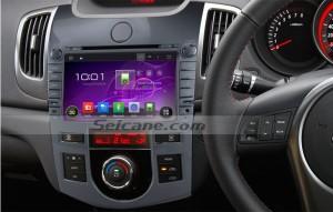 2008-2012 KIA KOUP Auto Air-Conditioner version car radio after installation