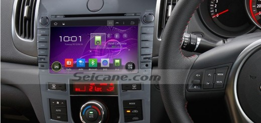 2008-2012 KIA KOUP Auto Air-Conditioner version car radio after installation