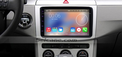 2011 2012 VW Volkswagen Lavida head unit after installation