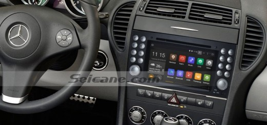 Mercedes-Benz SLK W171 R171 head unit after installation