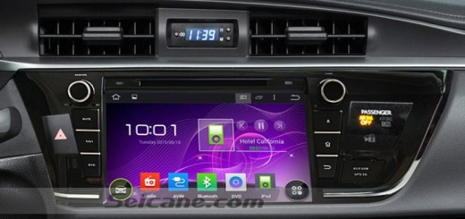 2013 2014 Toyota COROLLA right head unit after installation
