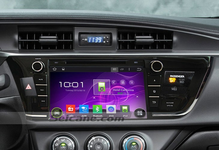 How to replace 2013 2014 Toyota COROLLA right head unit with