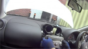4-1. Take out the car radio and disconnect the wire harness at the back of the unit