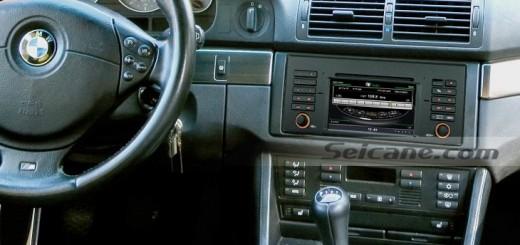 2000-2006 BMW X5 E53 gps navigation dvd radio after installation