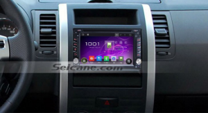 Nissan NAVARA Bluetooth DVD GPS Radio after installation.