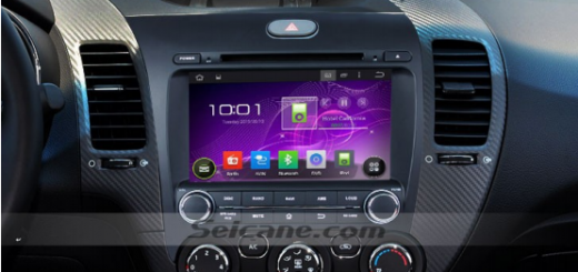 Seicane 2013 2014 KIA K3 Left dvd gps head unit after installation
