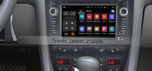 1997-2004 AUDI A6 S6 RS6 gps car navigation system after installation