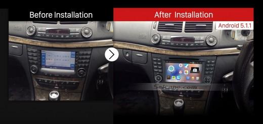 2004-2011 Mercedes Benz CLS Class W219 dvd player car radio after installation