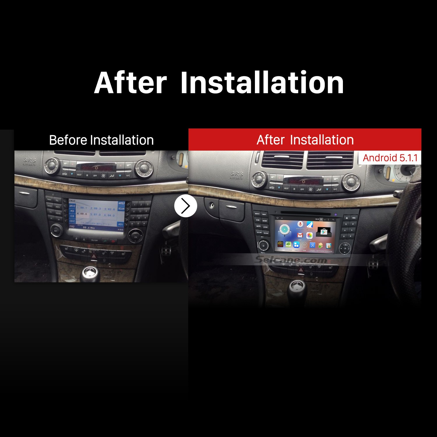 14 easy steps to upgrade a 2004 2011 mercedes benz cls for Mercedes benz stereo installation