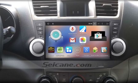2008 2017 Toyota Highlander Gps Sat Navi Stereo After Installation
