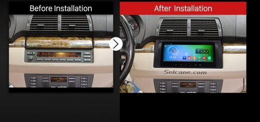 2000-2007 BMW X5 E53 3.0i 3.0d 4.4i 4.6is 4.8is Car Audio after installation