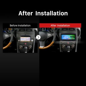 2004-2012 Mercedes SLK Class R171 SLK200 SLK280 SLK300 SLK350 SLK55 car radio after installation