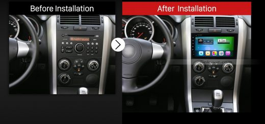 2005-2015 SUZUKI GRAND VITARA car radio after installation