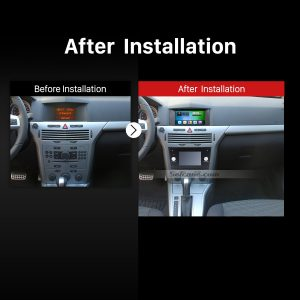 2006-2011 OPEL ASTRA H Dash Radio after installation