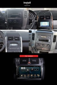 2006-2012 Mercedes Benz Viano Vito Radio after installation