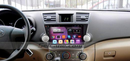 2009-2015 Toyota Highlander Radio after installation