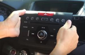 Softly take out the original car radio