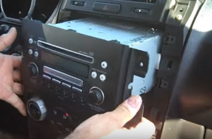 Pull the original radio out from the dash