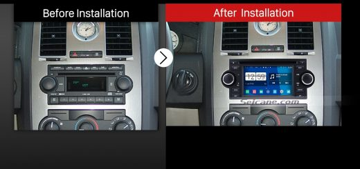 2002-2007 Dodge Caravan Charger Radio after installation