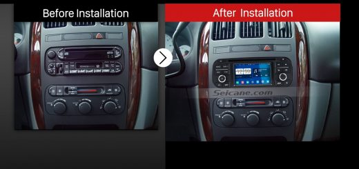 2002-2007 Jeep Liberty car stereo after installation
