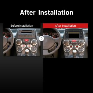 2004-2012 Fiat Panda multifunctional car radio after installation