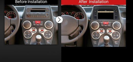 2004-2012 Fiat Panda multifunctional car radio after installation