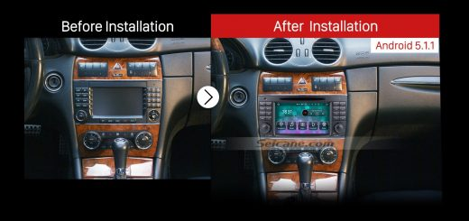 2006 2007 2008 Mercedes-Benz CLS W219 gps dvd car radio after installation