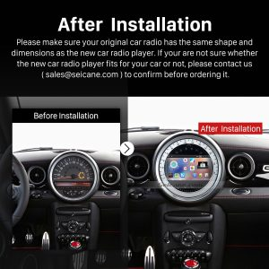 2006-2013 BMW Mini Cooper Audio Stereo Radio after installation