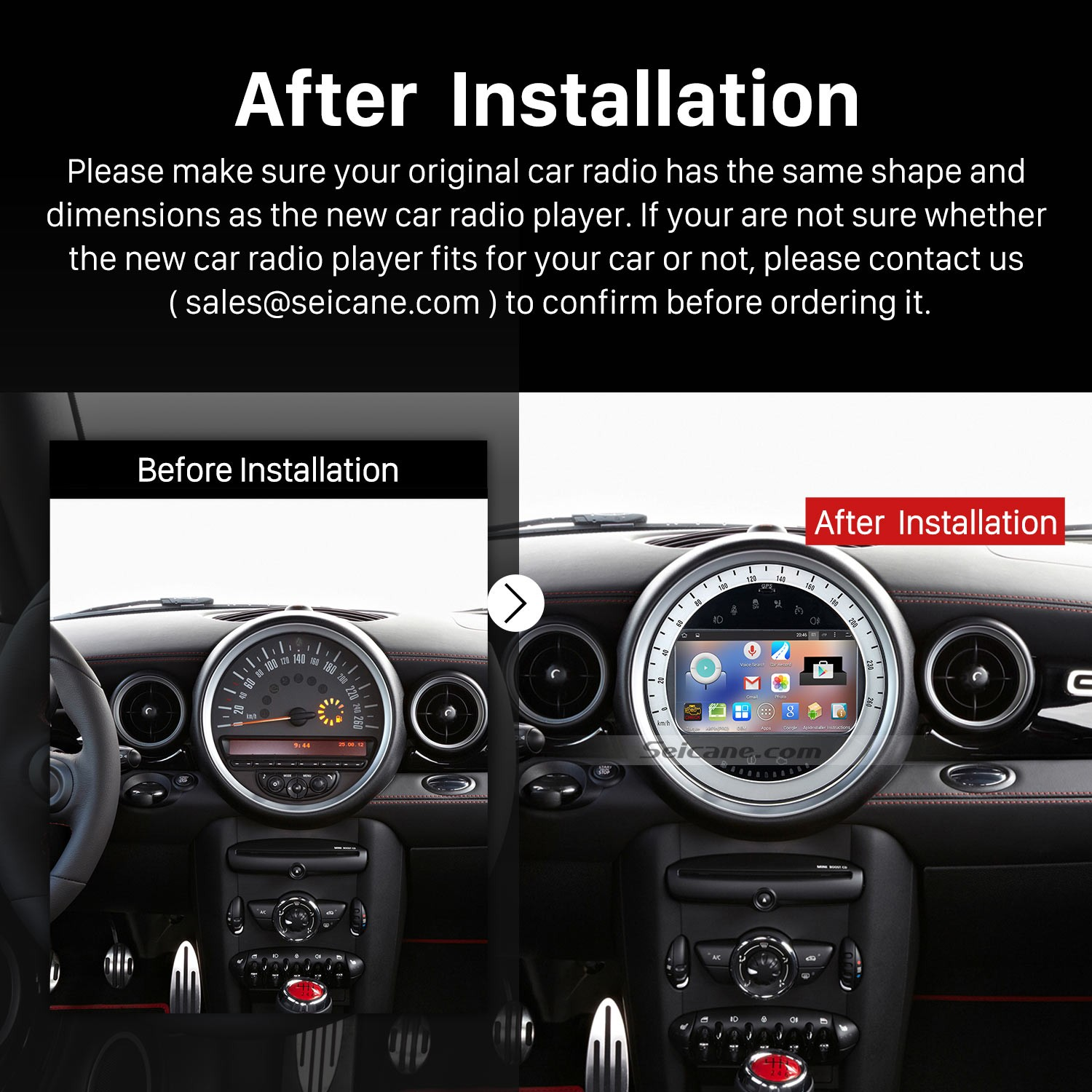 2006 2017 Bmw Mini Cooper Audio Stereo Radio After Installation