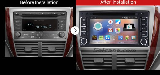 2008-2013 SUBARU Forester XV Impreza Car Stereo after installation