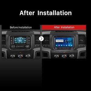 2013 2014 2015 Dodge Ram 1500 2500 3500 4500 stereo after installation