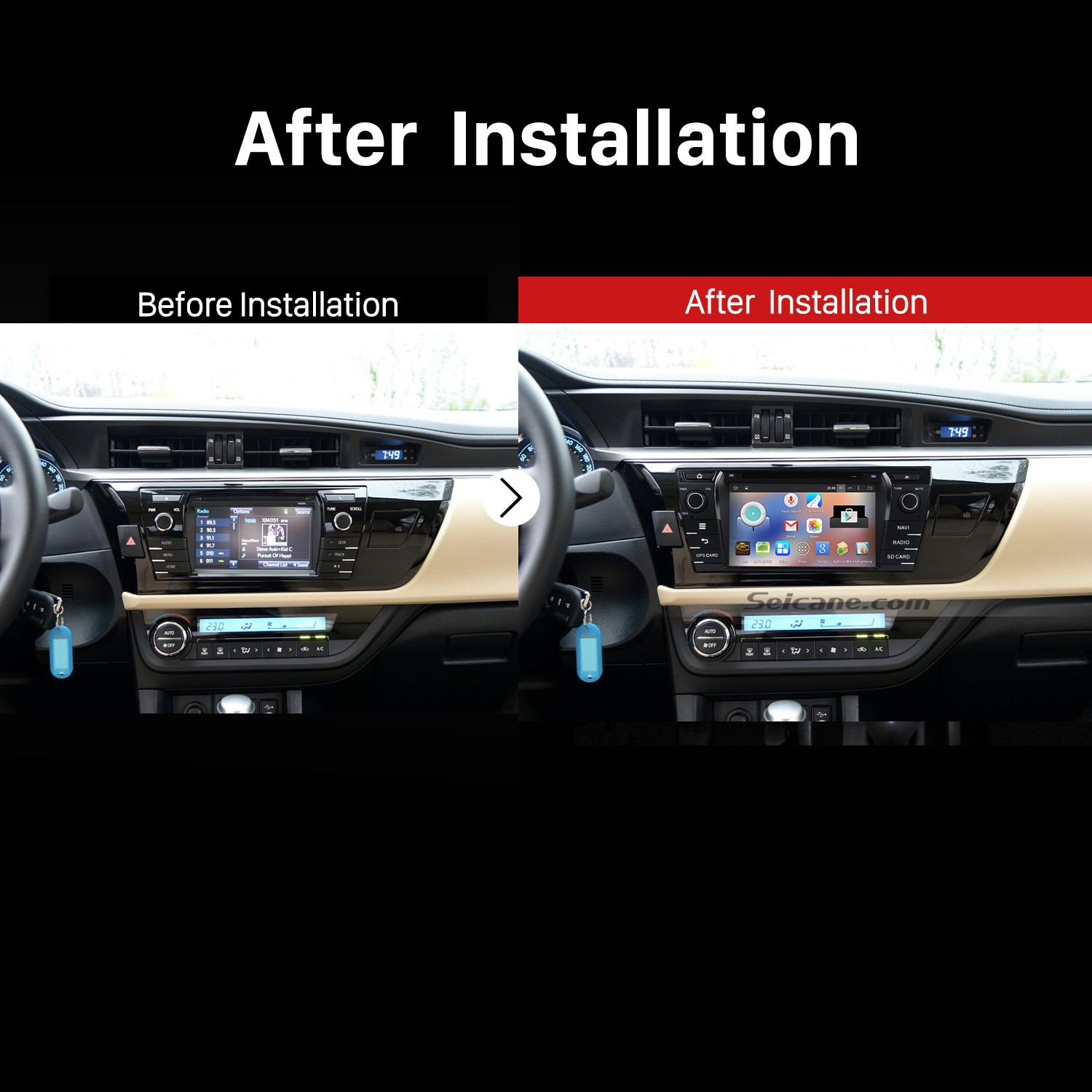how to upgrade a 2013 2014 toyota corolla stereo sound system with touch screen radio speakers toyota corolla speaker upgrade toyota corolla radio upgrade