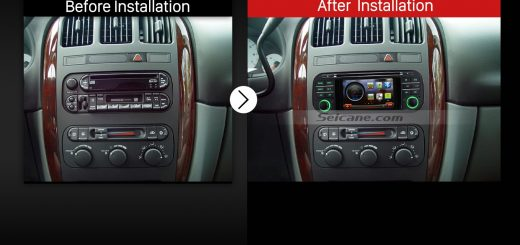 1999-2004 Jeep Grand Cherokee gps Bluetooth radio stereo after installation