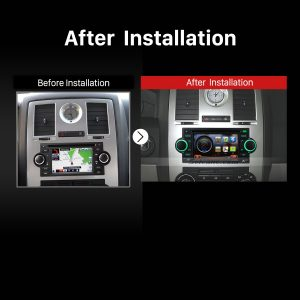 2002-2007 Dodge Intrepid Magnum Neon car stereo after installation