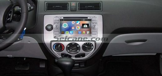 2003-2007 Ford Mondeo Bluetooth GPS Car Stereo after installation