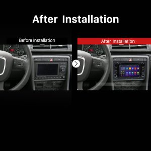 2003-2011 Audi A4 S4 RS4 car stereo after installation