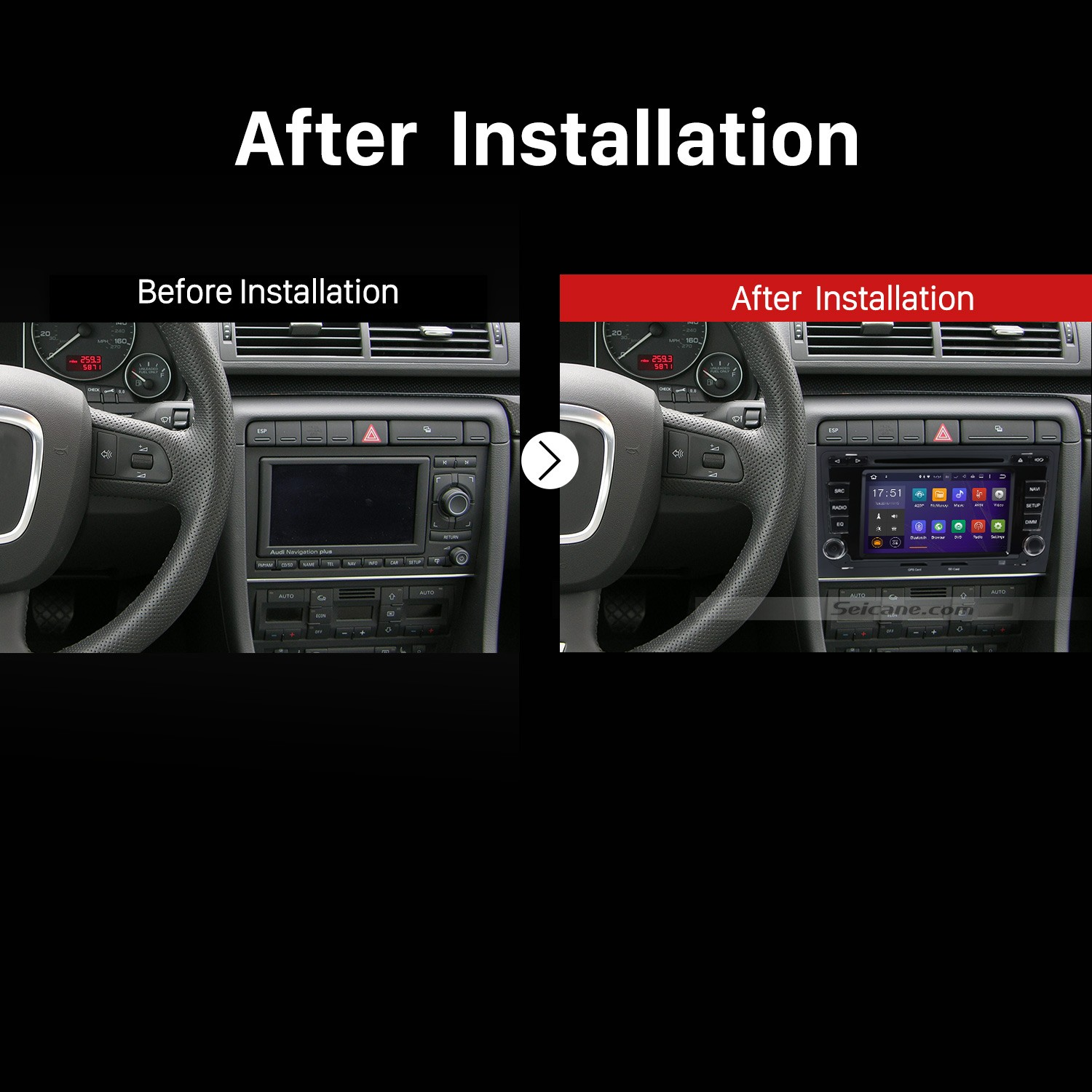 How To Upgrade A 2003-2011 Audi A4 S4 Rs4 Stereo With Gps Audio Dvd Player