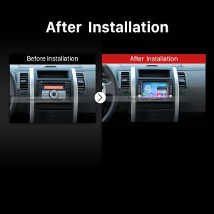 2004-2009 Kia sportage car stereo after installation