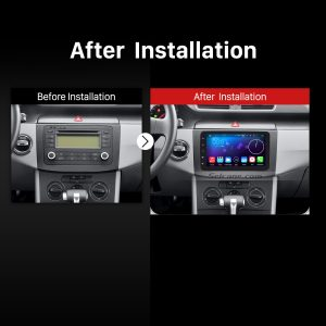 2004-2011 VW Volkswagen Sagitar PASSAT Car Stereo after installation