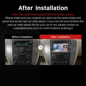 2007-2012 GMC Yukon Acadia Radio after installation